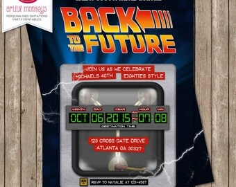 Printable Back to the Future Inspired Invitation