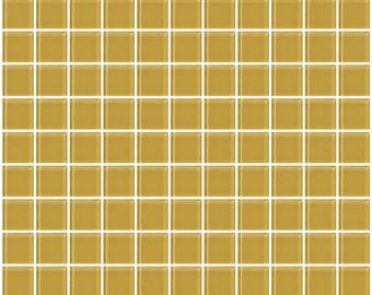 1-inch honey brown glass tile (J1102)