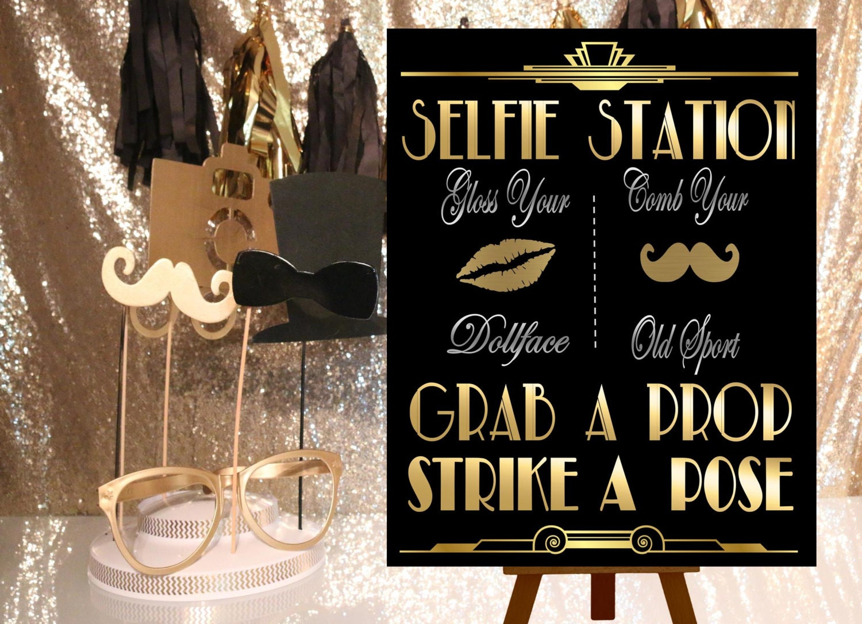 great gatsby printables selfie station photobooth. Black Bedroom Furniture Sets. Home Design Ideas