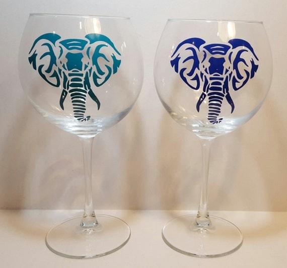 Extra Large Red Wine 21 Oz Glasses Set Of 2 Elephant Wine