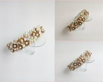 Pearl hair headband