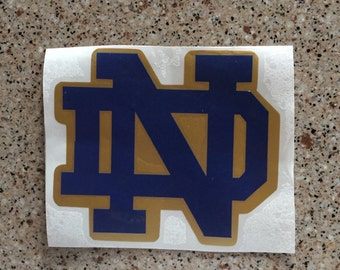 Notre Dame Fighting Irish Decal, Notre Dame Decal, Notre Dame, Fighting Irish