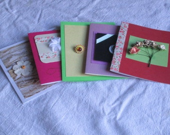 Homemade Greeting Card Assortment w/env; Birthday, Get Well, Thinking of you, Blank, All Occasion