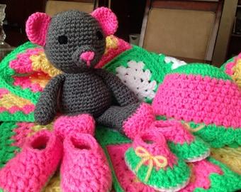 Watermelon crochet set