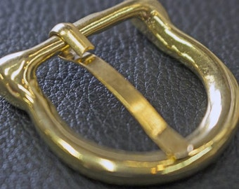 1 inch  gold  D  BELT BUCKLE