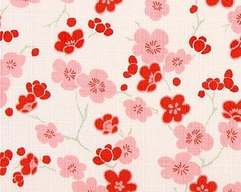 Japanese cherry blossoms dobby fabric coupon
