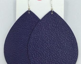 Grape Leather Earrings