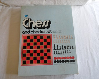 1974 Whitman Chess and Checker Set