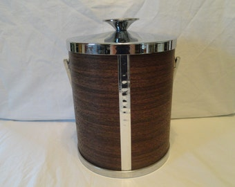 Vintage Serv-Master Creations Ice Bucket With Ice Tongs