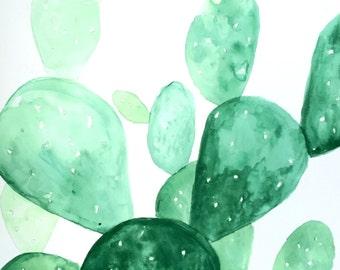 Green Cactus Print 2