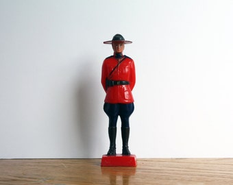 Vintage Canadian Mountie Toy