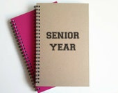 Writing journal, spiral notebook, cute diary, small sketchbook, scrapbook, memory book, 5x8 journal - Senior year, college, high school