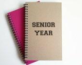 Writing journal, spiral notebook, cute diary, small sketchbook, scrapbook, memory book, 5x8 journal - Senior year, college, high school
