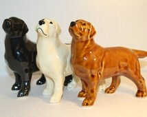 Labrador black, yellow, chocolate dog  figurine ceramics handmade,  statuette porcelain