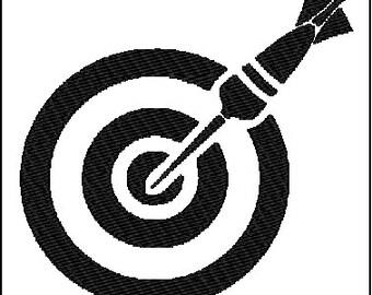 Dartboard Target Embroidery Design