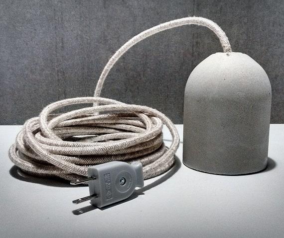 beton lampe mit stecker buchse und stecker. Black Bedroom Furniture Sets. Home Design Ideas