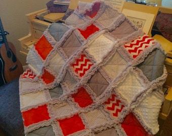 Rag Quilt Baby Blanket