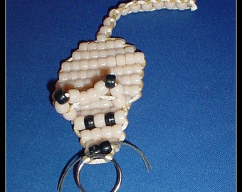 Pony Bead Mouse Key Chain
