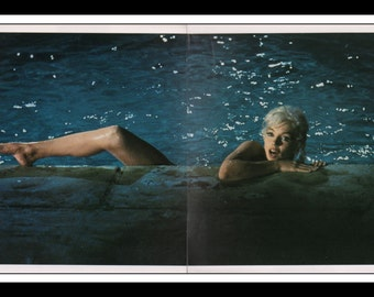 "Vintage Pinup Marilyn Monroe Sexy Pinup Wall Art Deco Book Print 2 Page Spread 18"" x 10.25"""