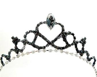 Black Swan Tiara, Black Swan Crown , Gothic fascinator , Gothic Black Crown, Gothic Black Tiara