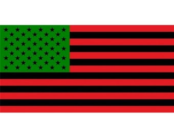 African American Flag Photo License Plate - LPO1639