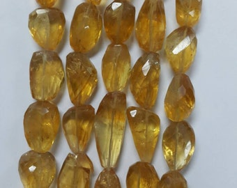 Citrine Nuggets Faceted (Natural)