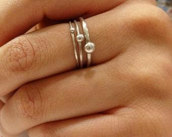 Stacking Ring Set – 3 Rings – Pebble