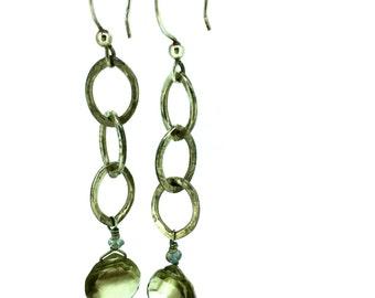 bicolored topaz earrings