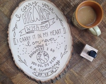 I Carry Your Heart With Me Anniversary Plaque