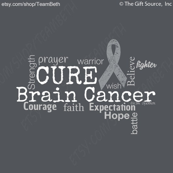 Cancer Sucks Quotes: Cancer Awareness Brain Cancer Tumor Word Cloud Tshirt Grey