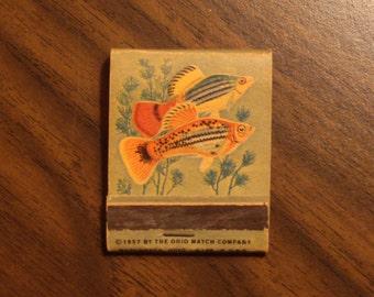 Vintage Matchbook, fish design