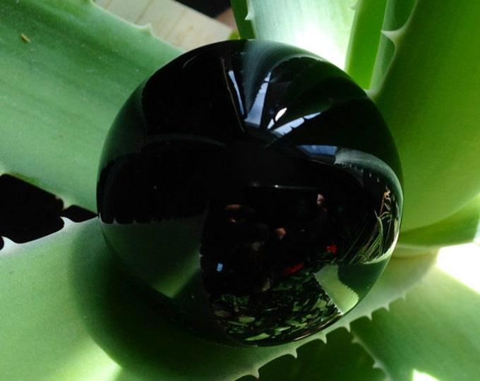 Black Obsidian Crystal Ball/Obsidian Ball/Scrying Tool/Divination/