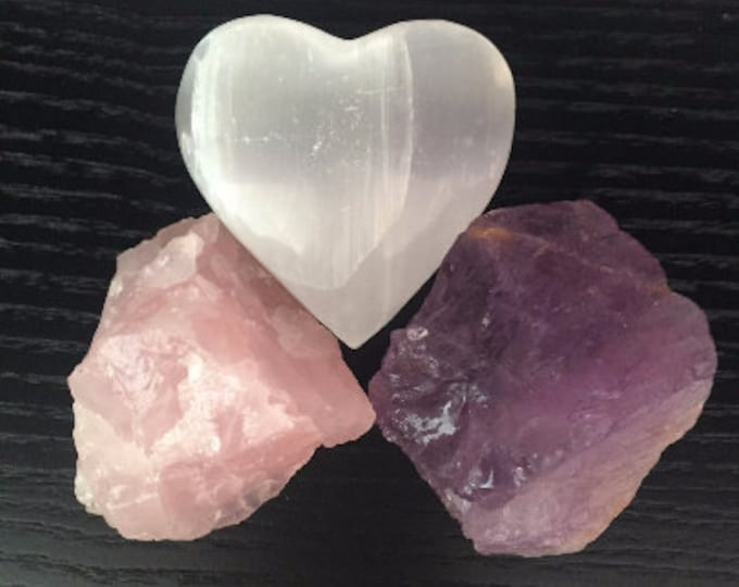 LOVE Healing Crystals and Stones SET infused w/ Reiki