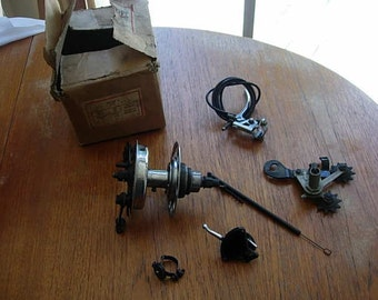 vintage trivelex  model a rear hub brake and gear set, never been used