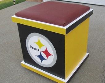 Pittsburgh football (Inspired) storage box, storage box, box