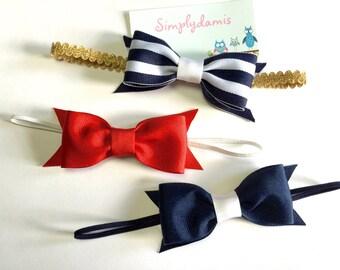 Set of 3 Nautical Baby Headband