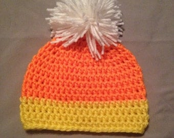 Crochet Candy Corn Inspired Baby Hat *SALE*