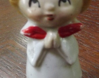 Vintage Antique Choir Girl Candle Holder 3.5 Inch 1950s