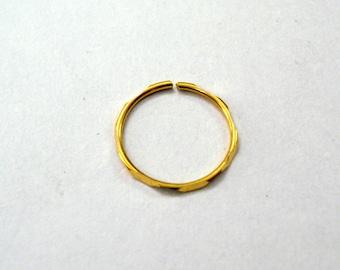 18kt gold nose ring gold hoop nose ring nose stud nose ornament
