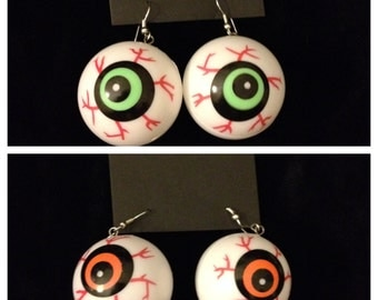 hollow eyeball earrings