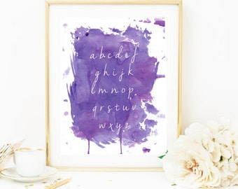Home Decor Print, Decor Print, Alphabet Poster, Abc Poster, Nursery Wall Art, Alphabet Wall Art, Nursery Print, Alphabet Print