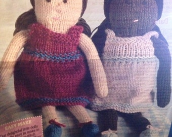 Daisy & Maisy Knitted Dolls Knitting Pattern