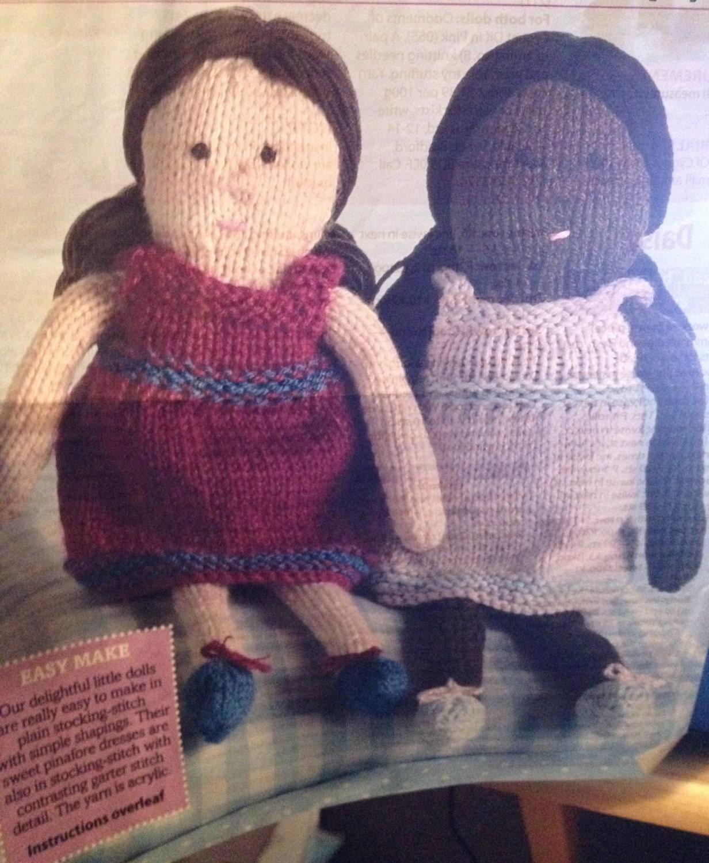 Daisy Doll Knitting Pattern : Daisy & Maisy Knitted Dolls Knitting Pattern