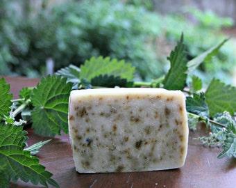 NETTLE Soap, handmade all natural vegan soap