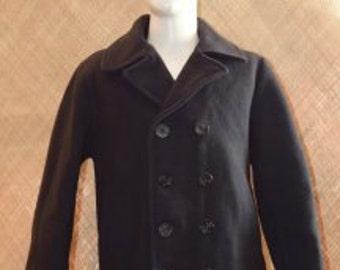 Vintage Men's Schott Dur-O-Jac Pea Coat