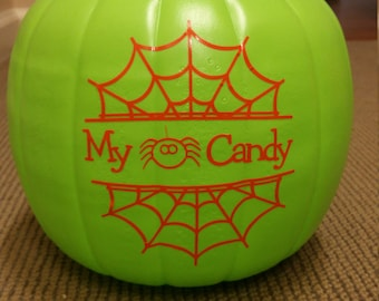 Personalized Halloween pail