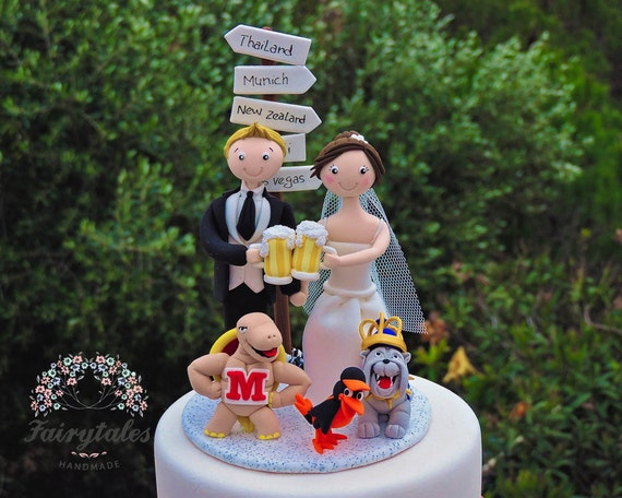 beer wedding cake topper wedding cake topper personalized with mascots 11259
