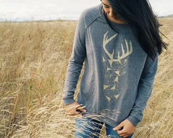 Geometric Stag Women's Pullover