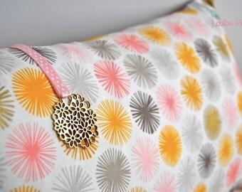 Organic Scandinavian cushion and Medallion graphic flower