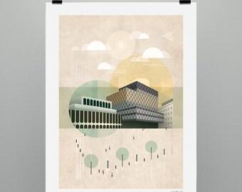 Centenary Square (Art print, signed, unframed)